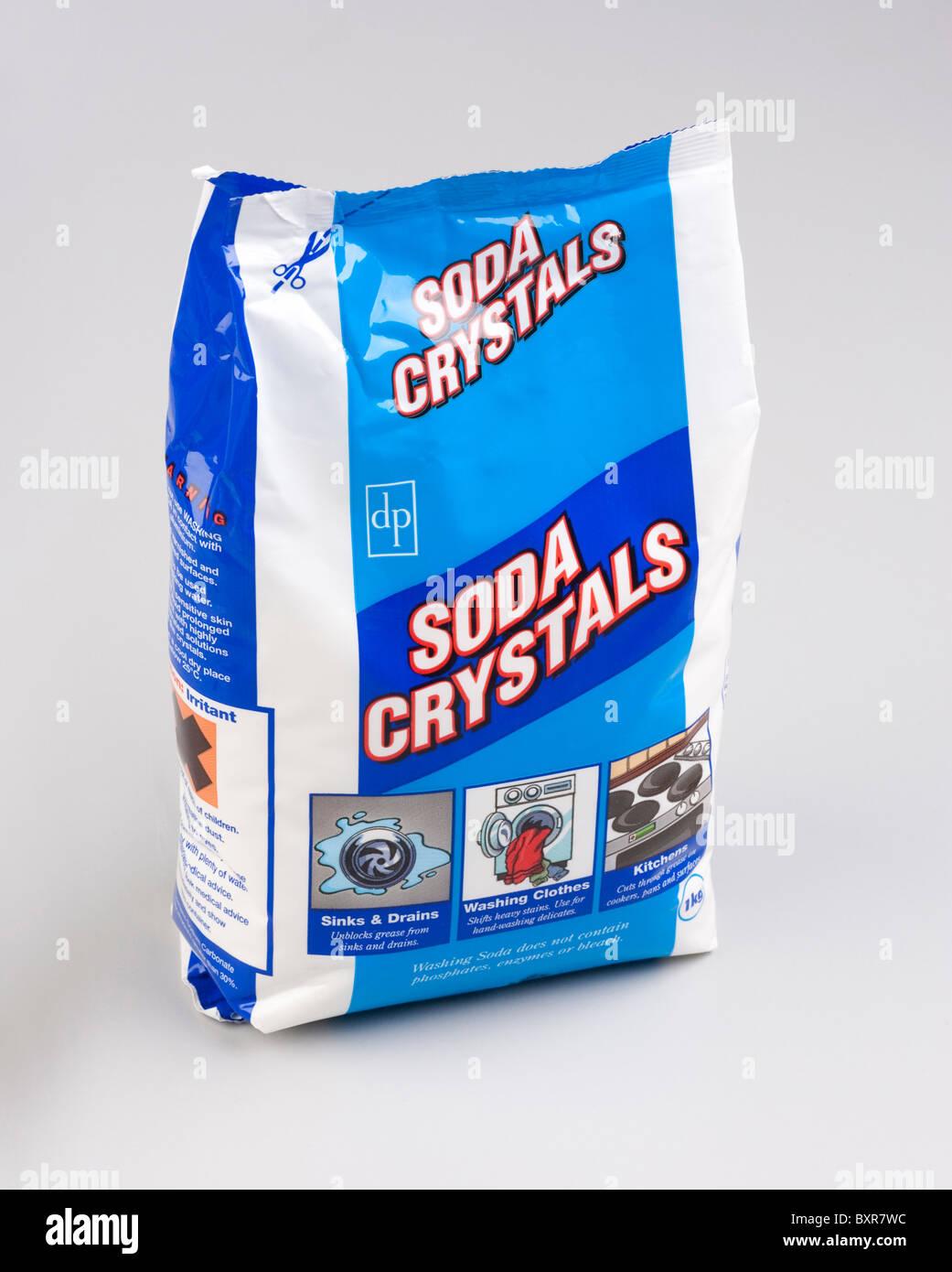 washing soda crystals of sodium carbonate Stock Photo: 33702520 - Alamy