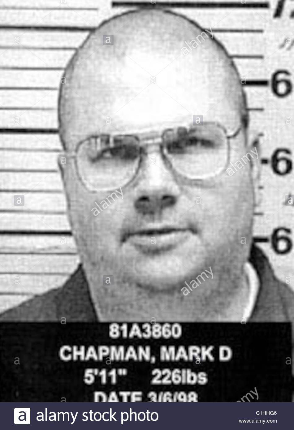 Mark David Chapman função Mugshot Imagens de Stock