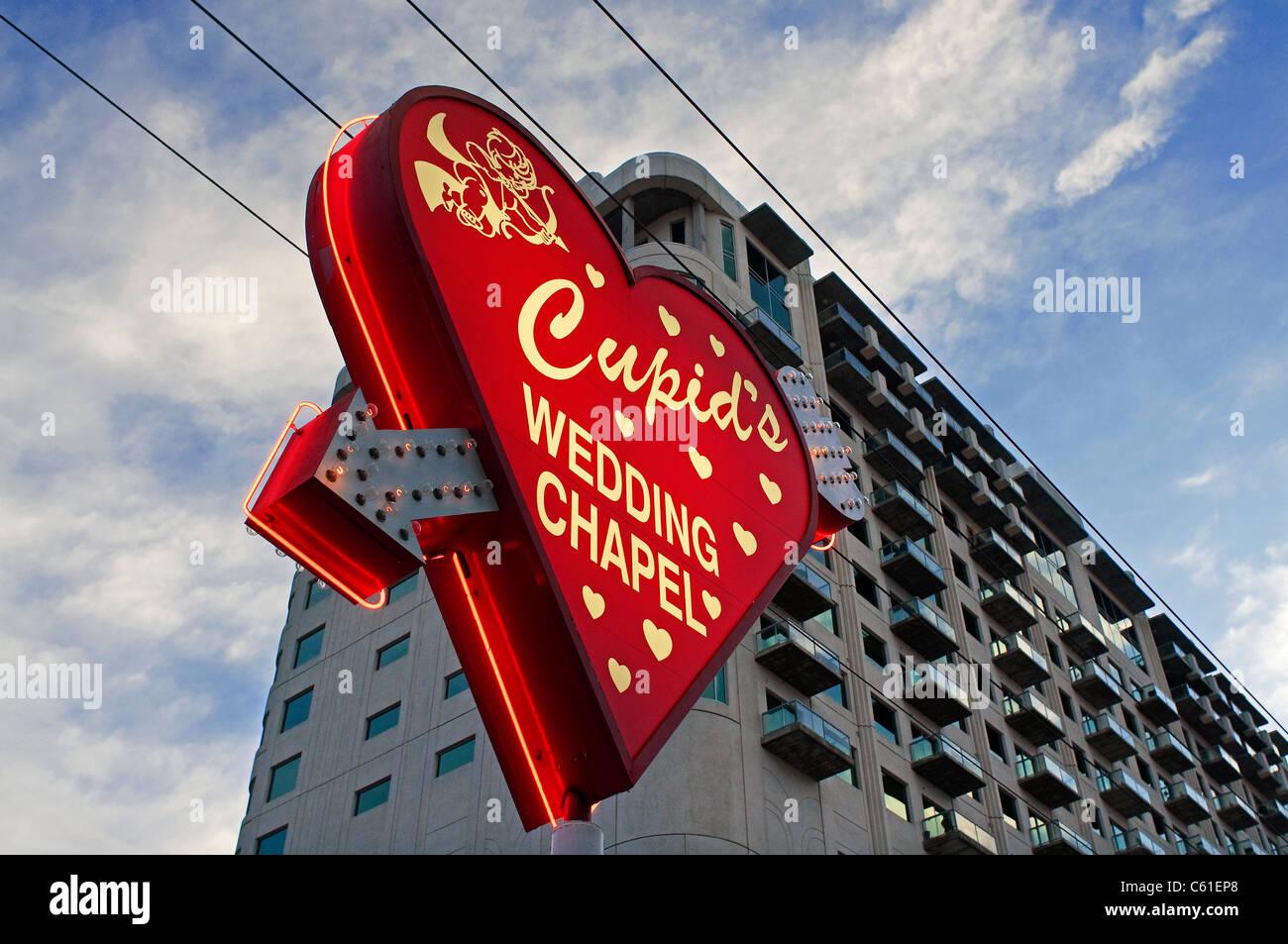 Wedding Chapel Cupids Las Vegas NV Nevada Imagens de Stock