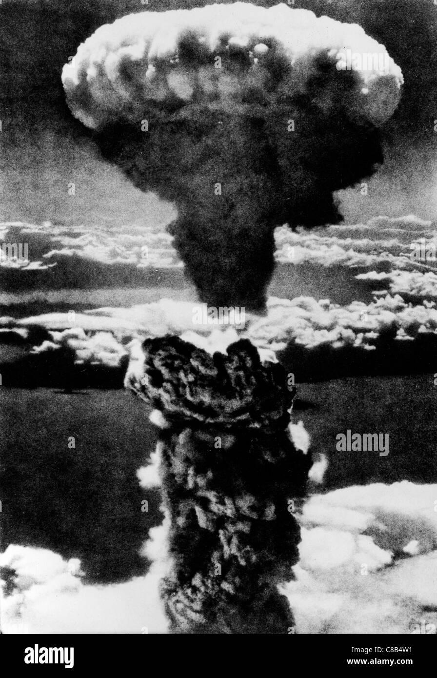 Explosão atômica em Hiroshima,1945 Imagens de Stock