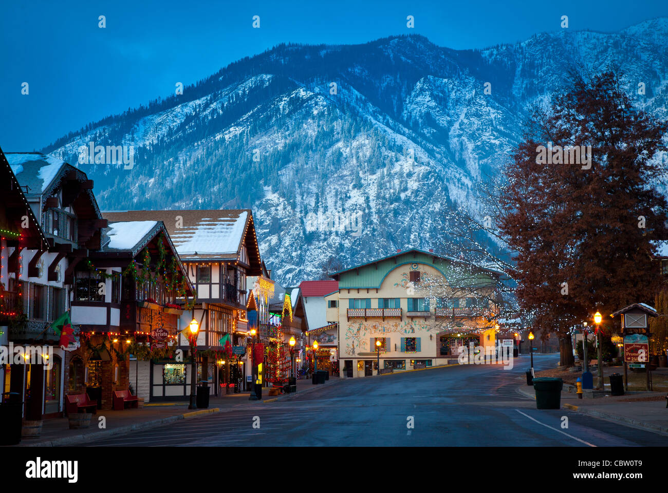 Leavenworth Christmas Lights.Christmas Lights In The Western Washington Town Of