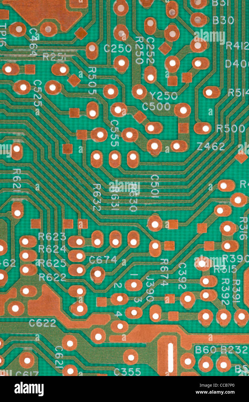 Circuito Eletronico : Perto da placa de circuito eletrônico foto imagem de stock