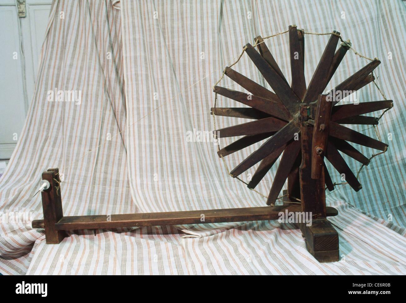 Mahatma Gandhi Spinning wheel charkha india Stock Photo