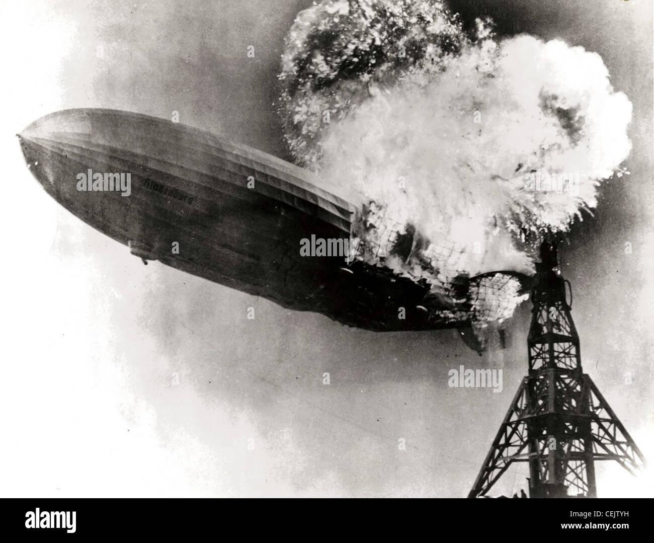 Hindenburg desastre Imagens de Stock