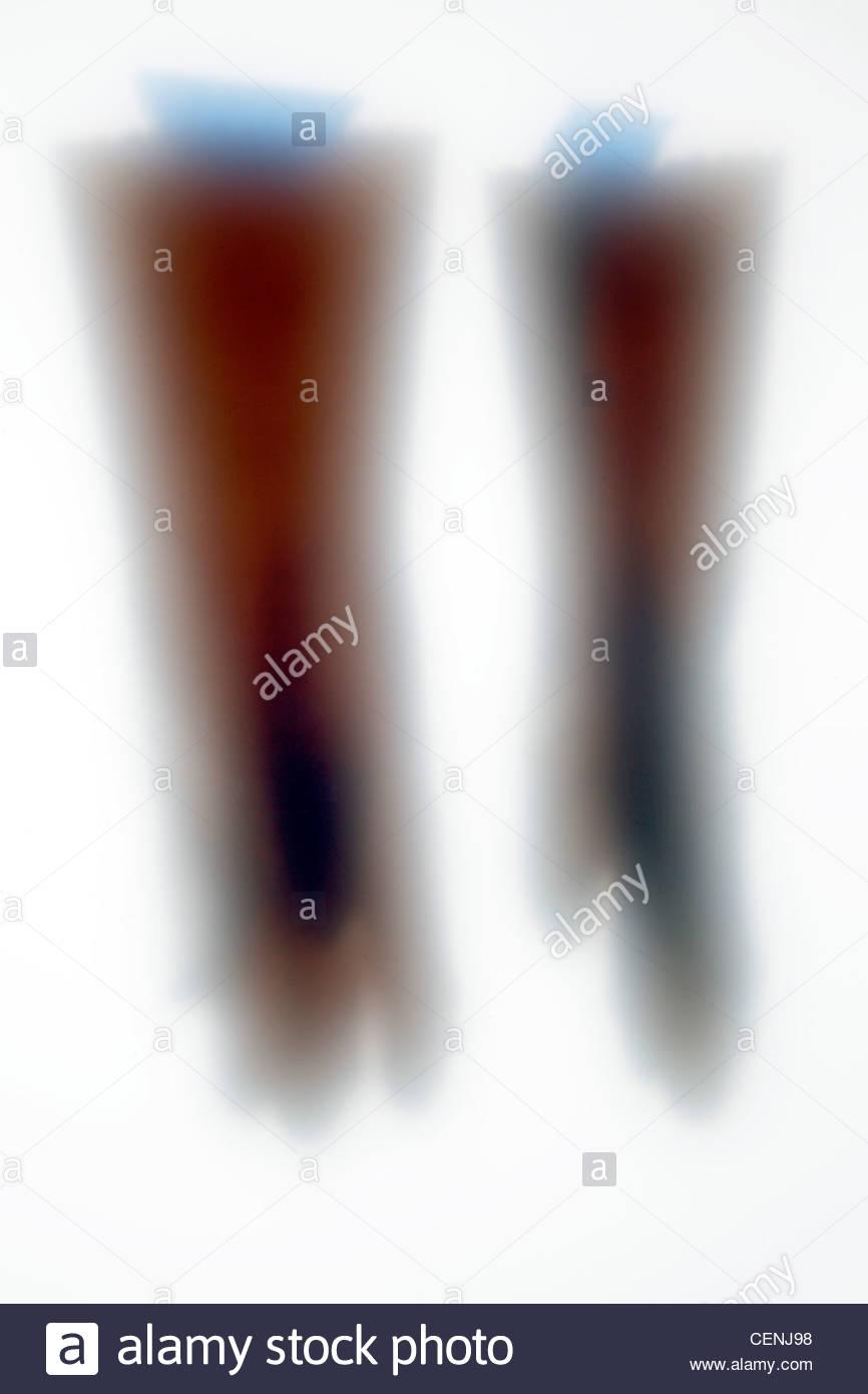 Esboço de luvas de trabalho doméstico com fita azul Imagens de Stock