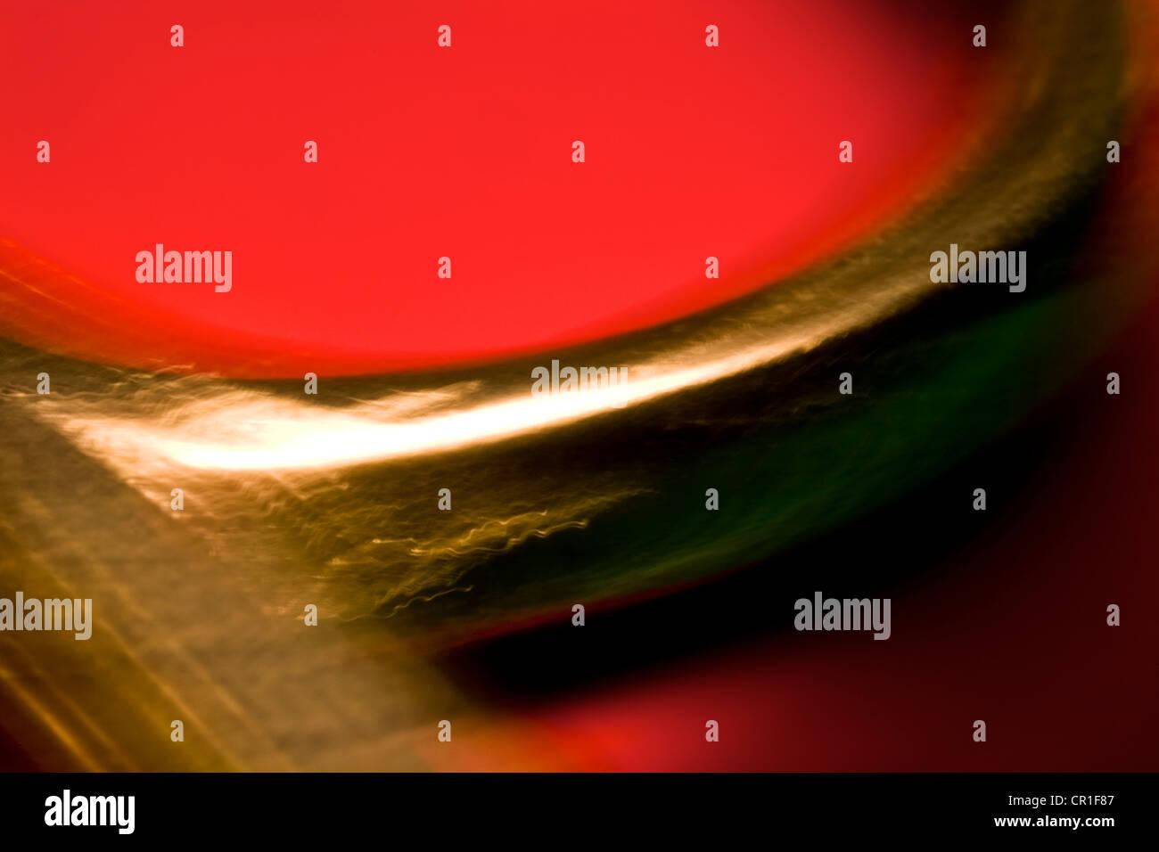 Extreme close-up de tesouras. Resumo imagem tirada com uma elevada ampliação lente macro. Imagens de Stock