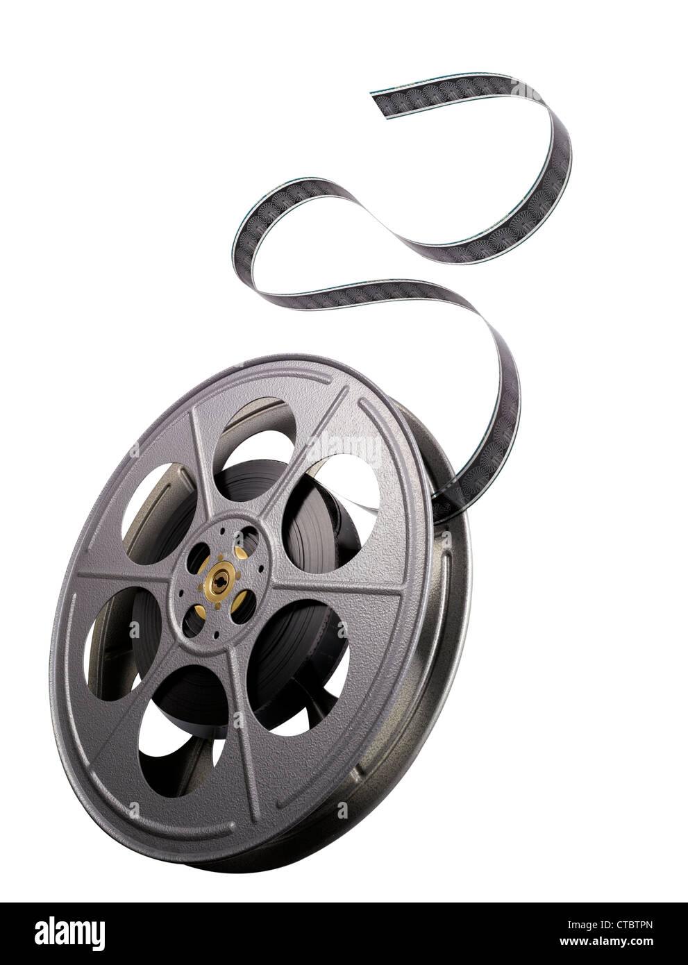 Um tradicional filme 35mm carretel. Imagens de Stock