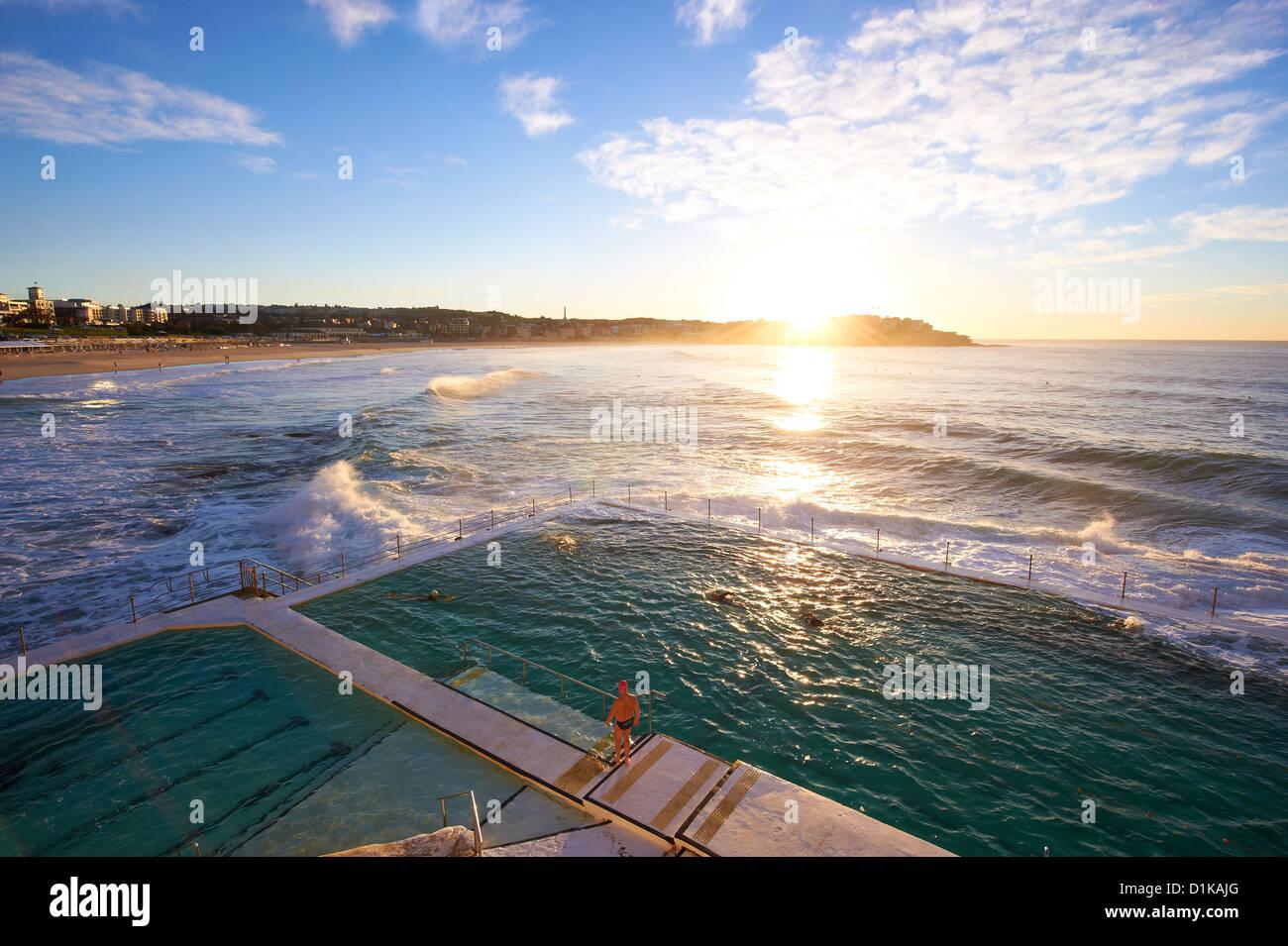 Bondi Icebergs, Sydney New South Wales Austrália Imagens de Stock
