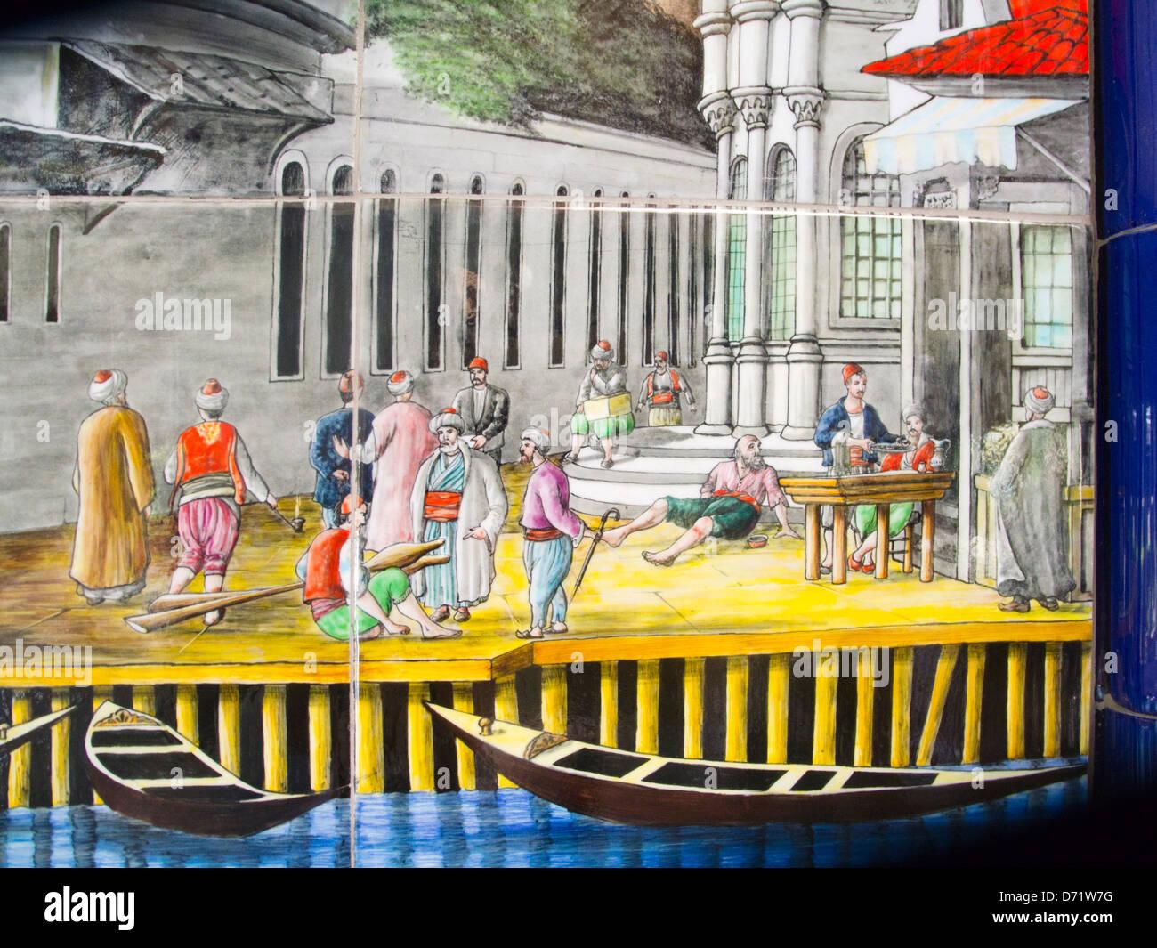 Türkei, Istambul, 6 Beyoglu, Fliesen An Der Seilbahnstation Imagens De Stock