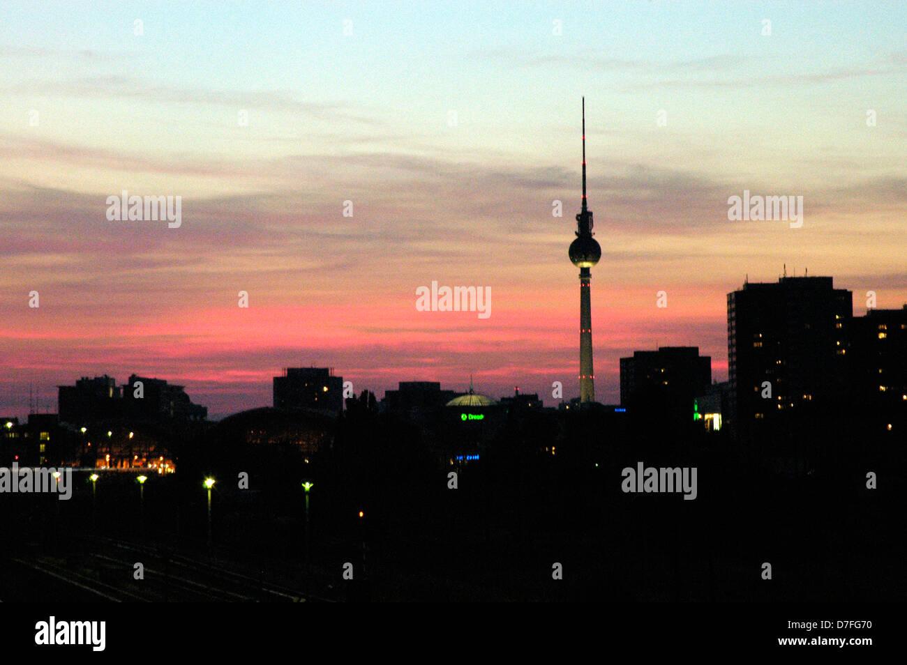 A Europa, Alemanha, Berlim, torre de televisão, Fernsehturm Imagens de Stock