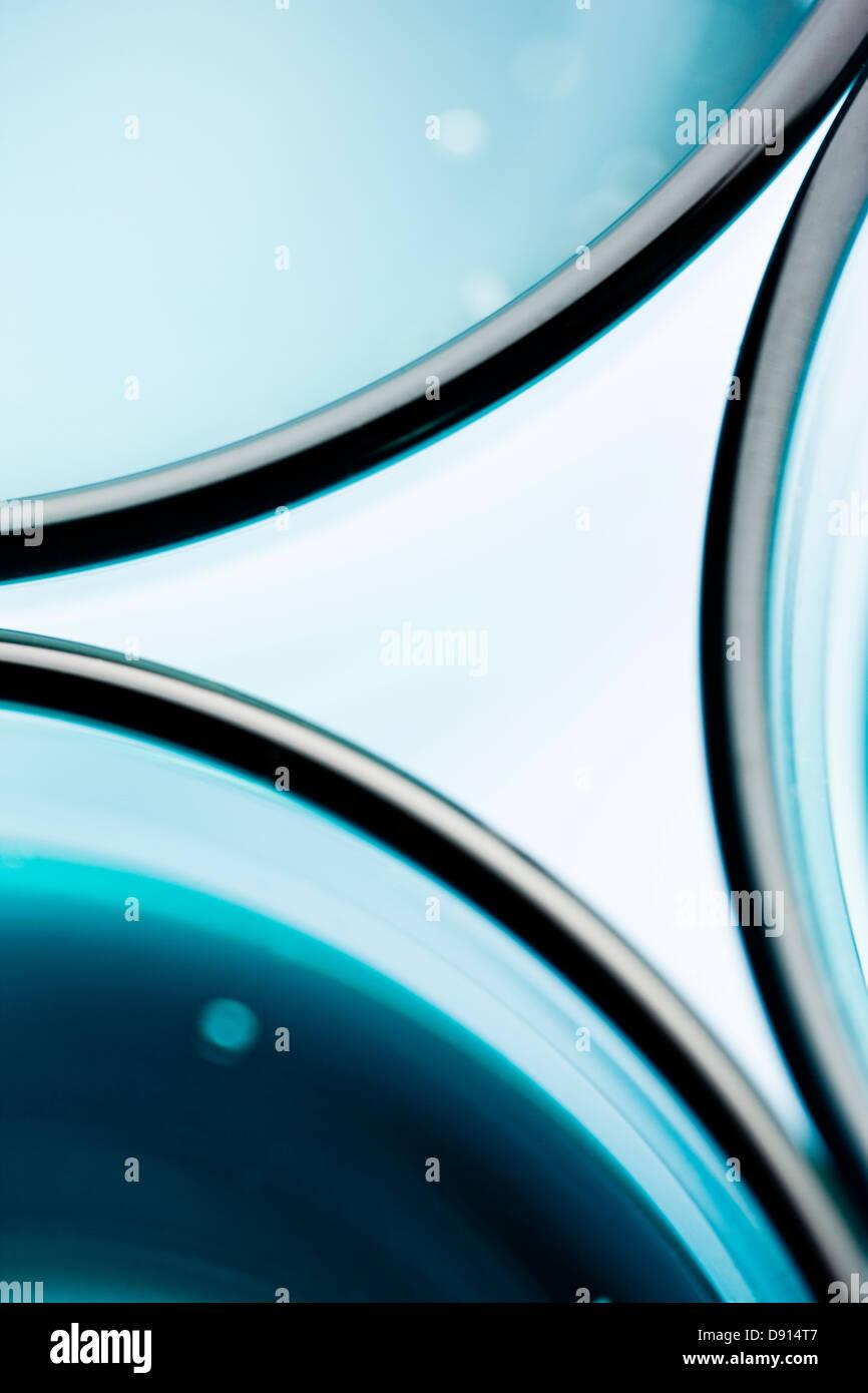 Abstrata feita de copos Imagens de Stock