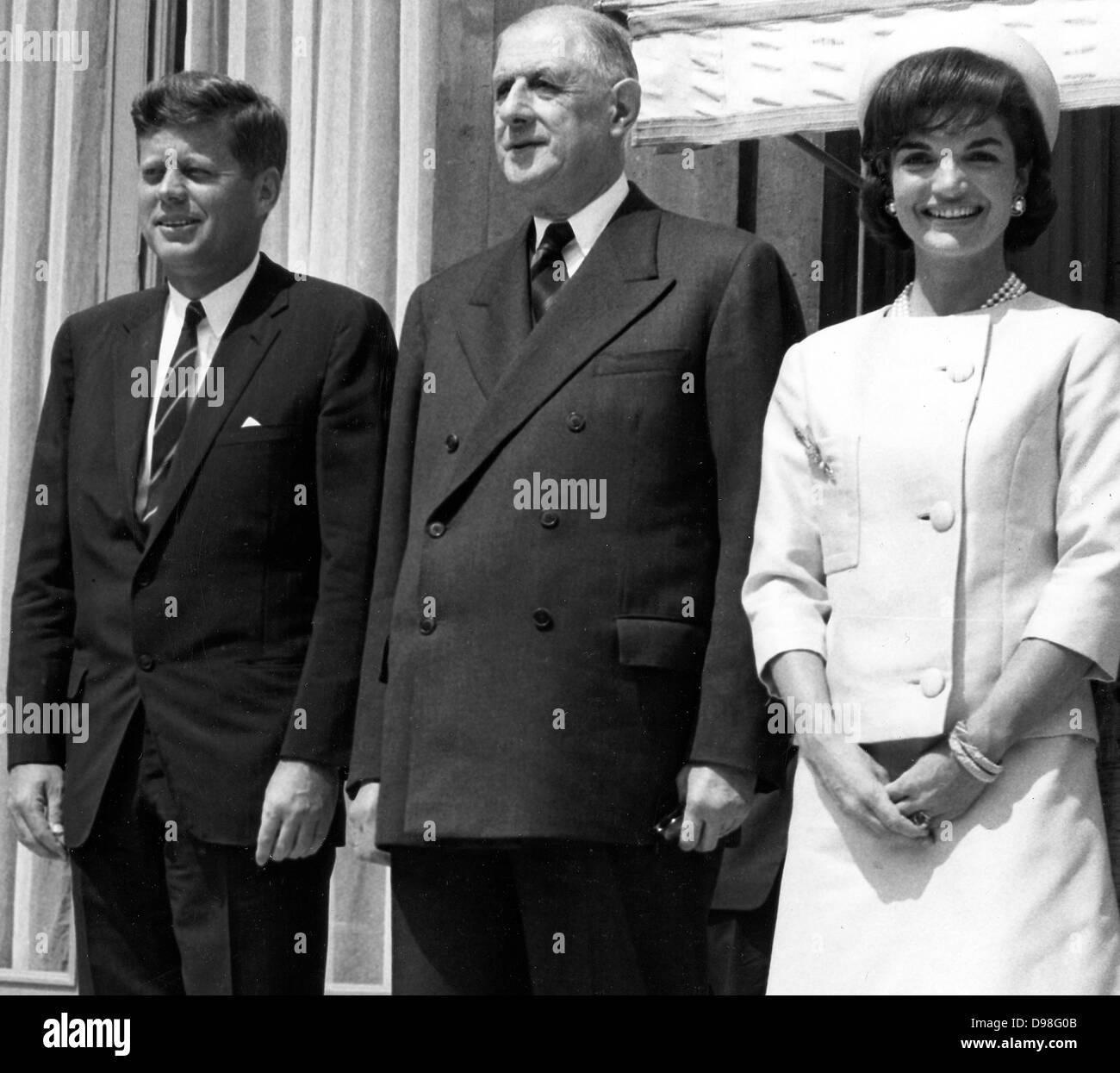 Resultado de imagem para jackie kennedy presidente francês Charles De Gaulle