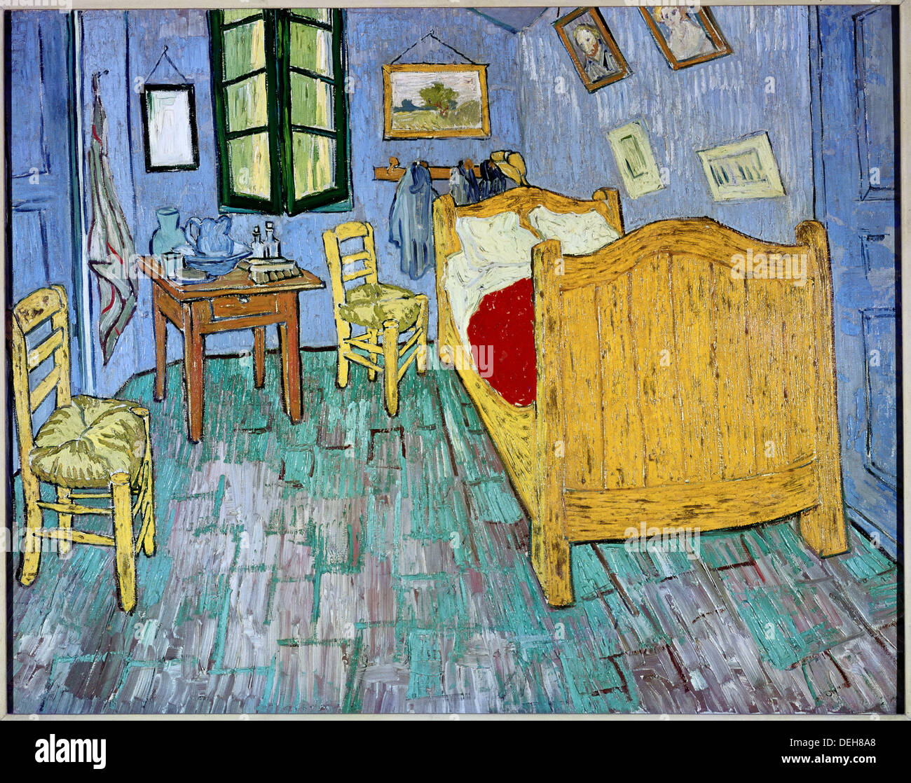 The bedroom´ (Sep. 1889) by Vincent Van Gogh (1853-1890 Stock Photo ...