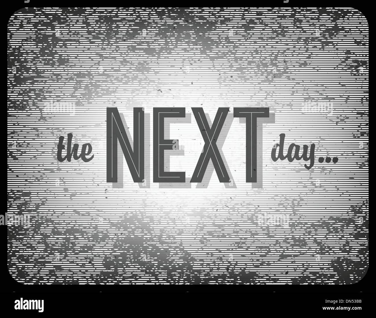 Antigo cinema frase (o dia seguinte...), Vetor EPS10 Imagens de Stock