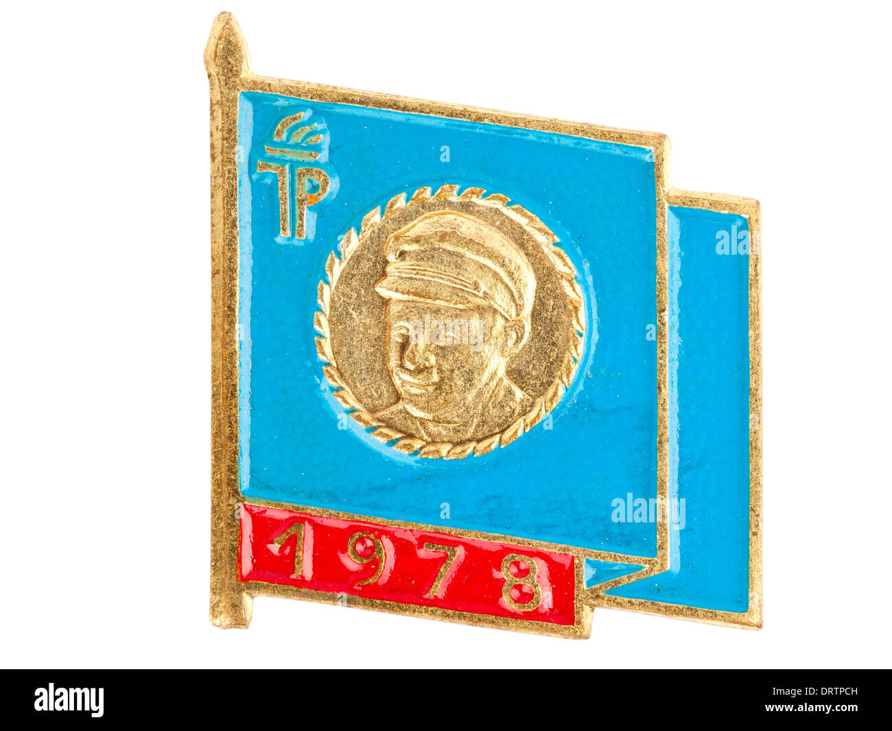 Rda (DDR) grupo de jovens (Junge Pioniere) badge - 1978 Imagens de Stock