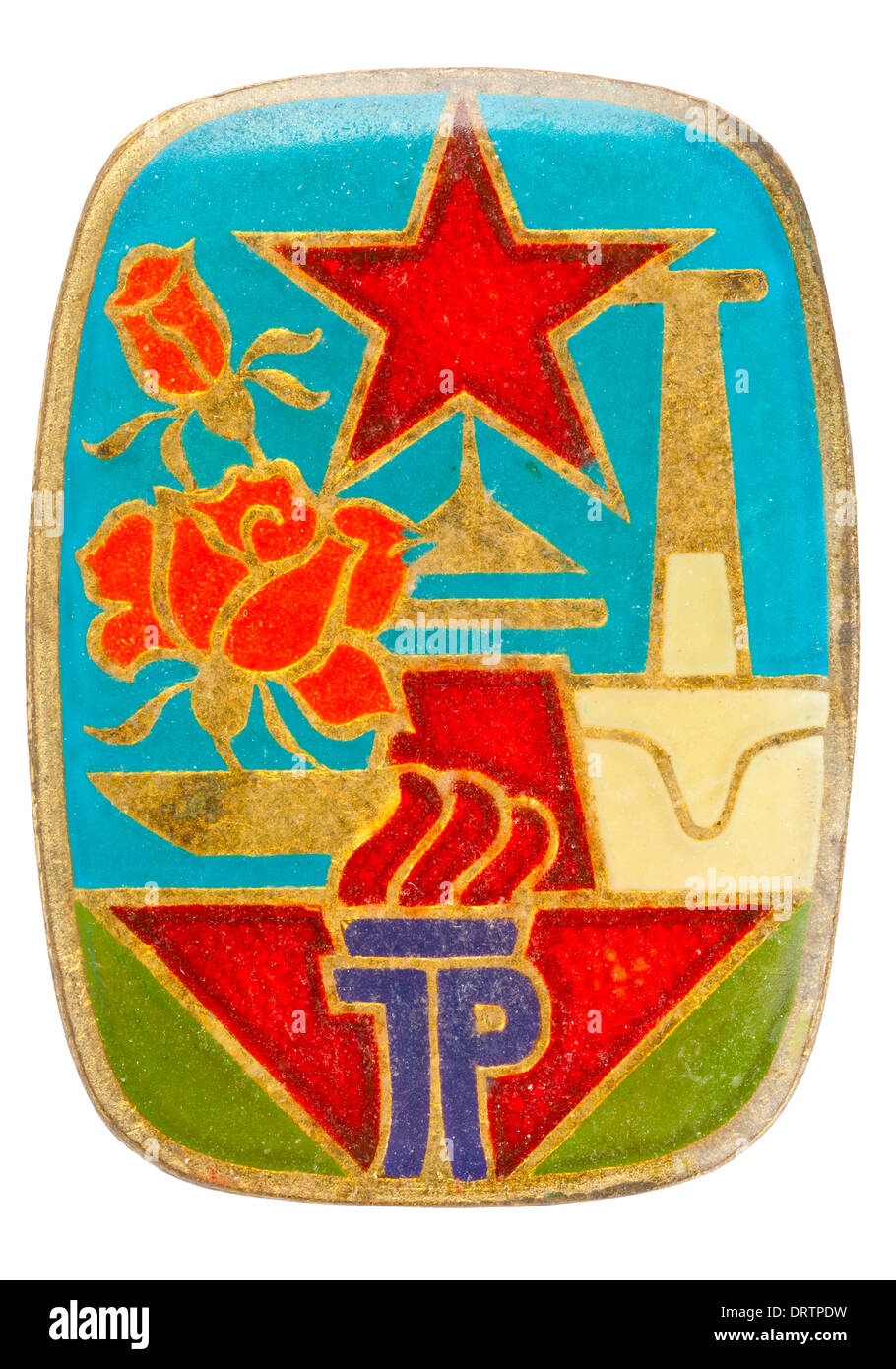 Rda (DDR) grupo de jovens (Junge Pioniere) monograma Imagens de Stock
