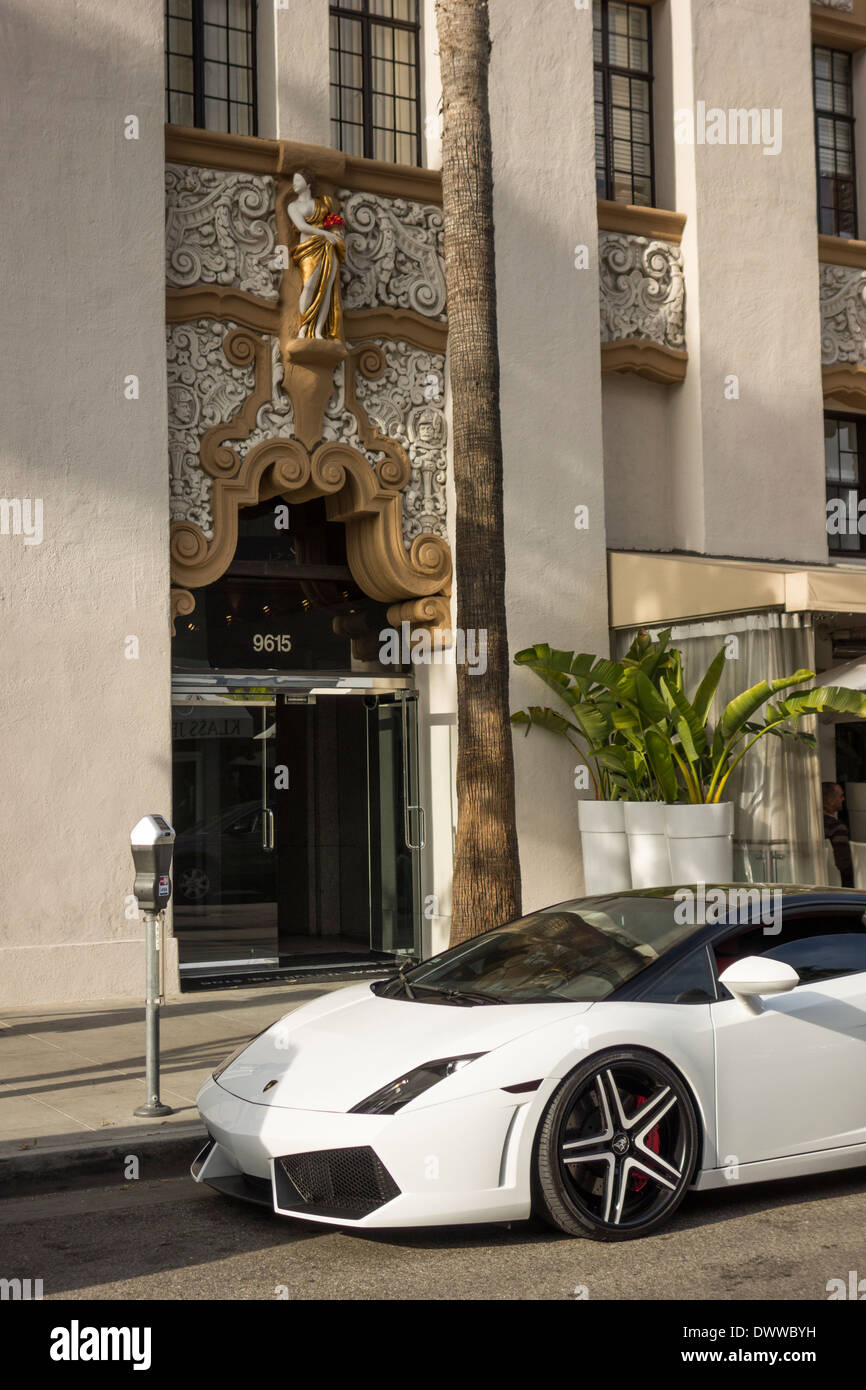 Carro Desportivo Lamborghini Em Beverly Hills Los Angeles Califórnia EUA