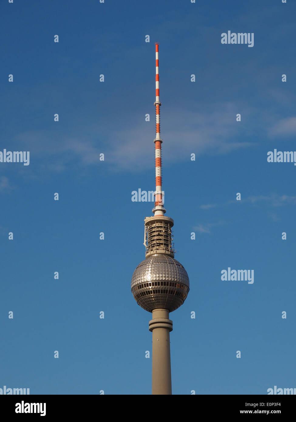 Torre de TV em Fernseh turm Alexander Platz Berlin Imagens de Stock