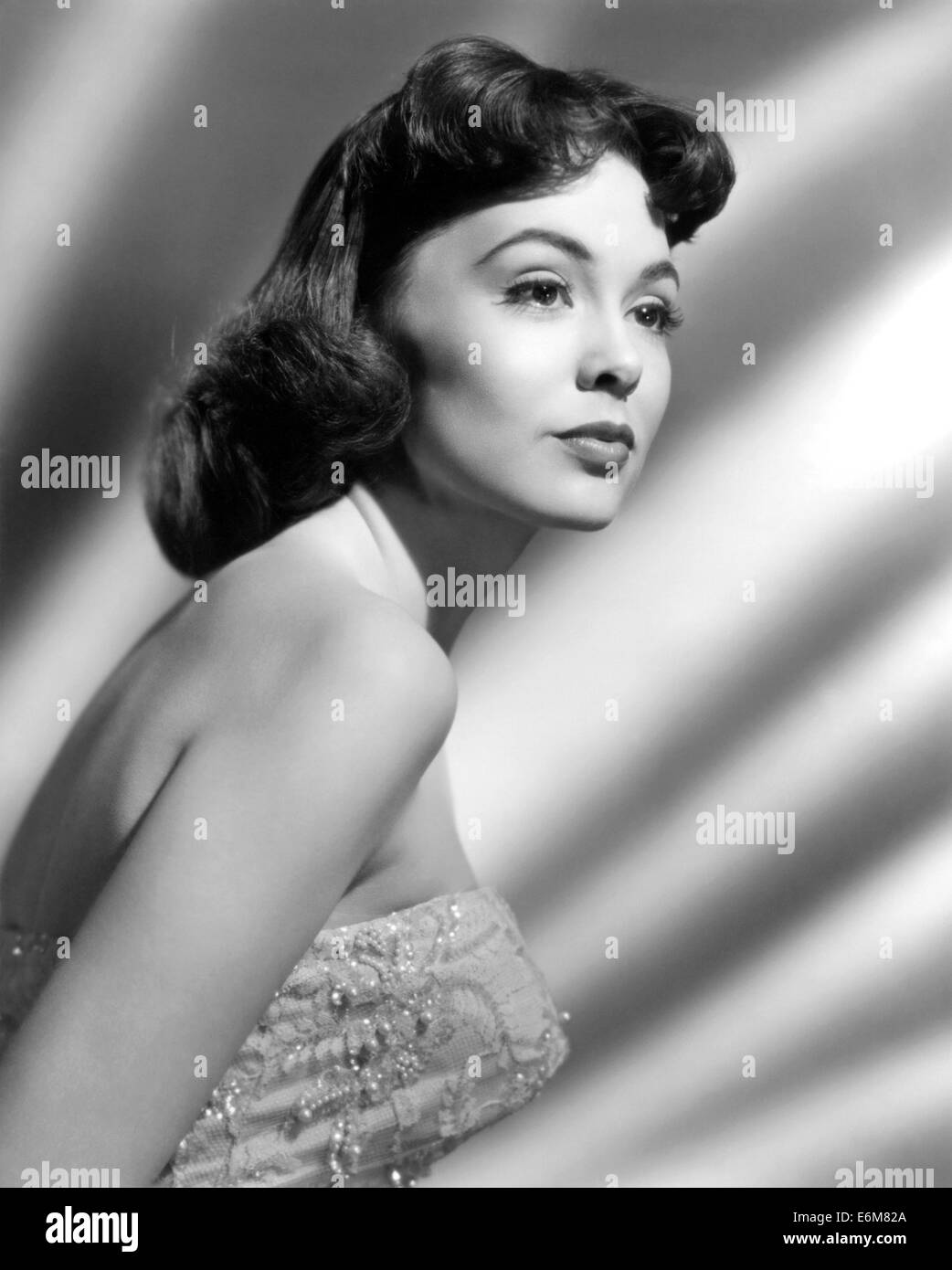 BARBARA RUSH filmes americanos e actriz de TV sobre 1950 Imagens de Stock