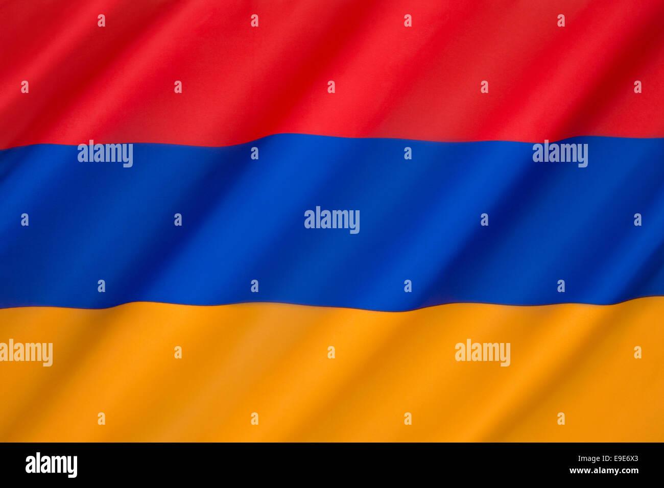 A bandeira nacional da República da Arménia Imagens de Stock