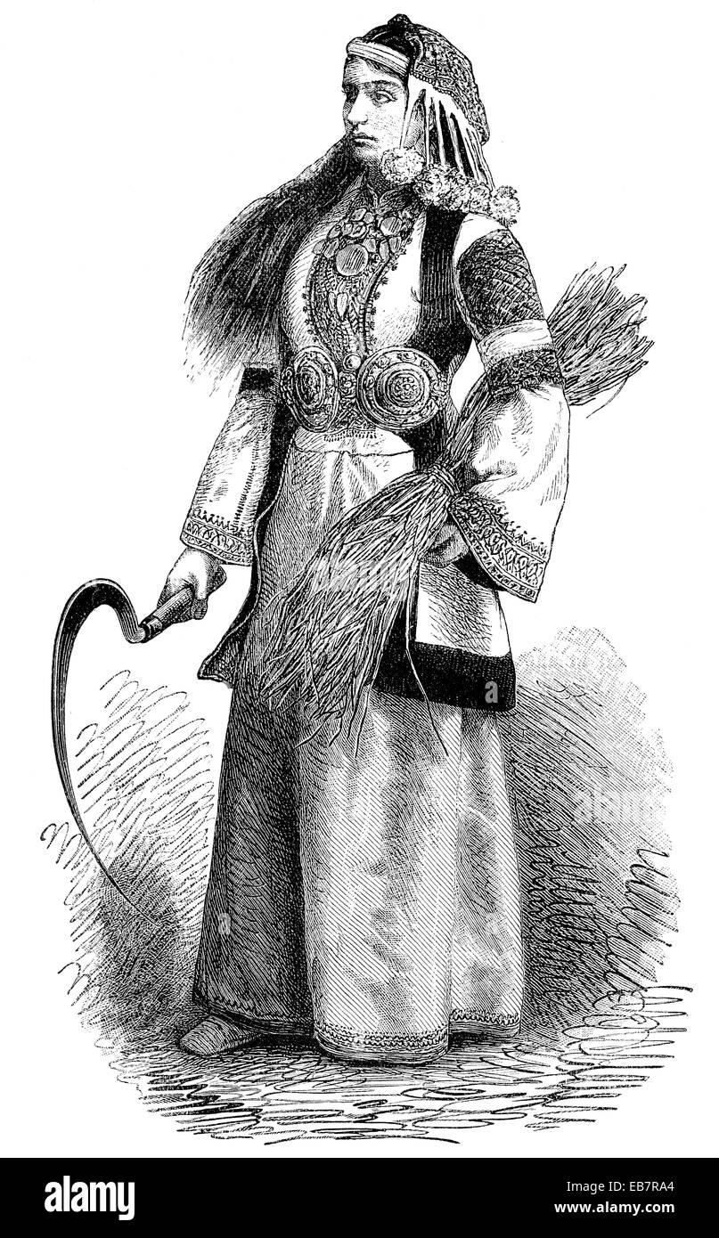 Jovem de Micenas, eine junge Frau aus Mykene Imagens de Stock