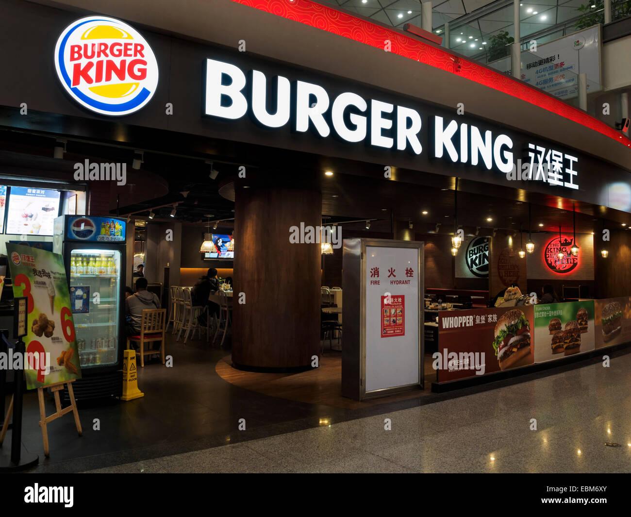Xian Aeroporto : Burger king restaurante no aeroporto de xian na china foto imagem