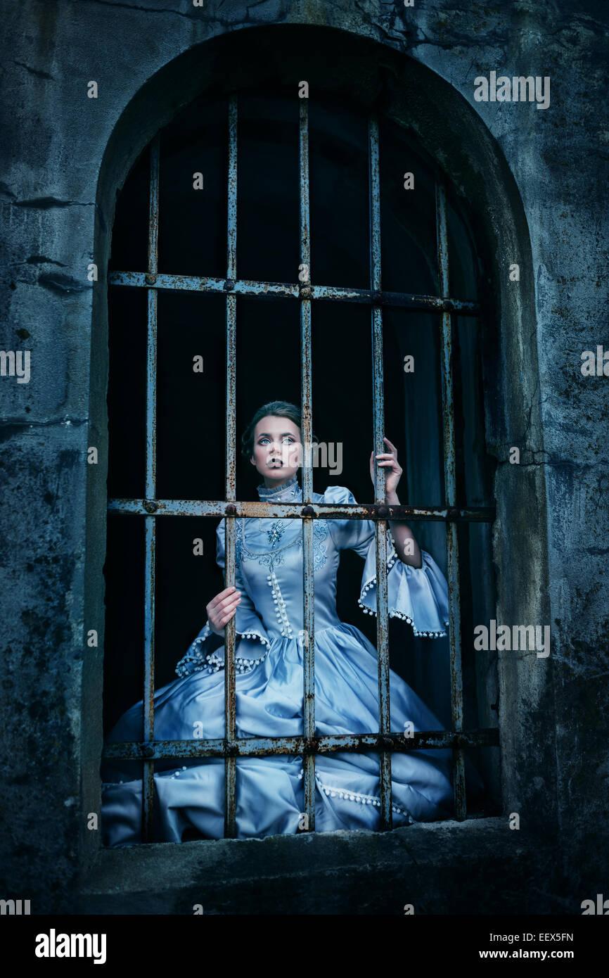 Mulher em vestido vitoriano Imagens de Stock