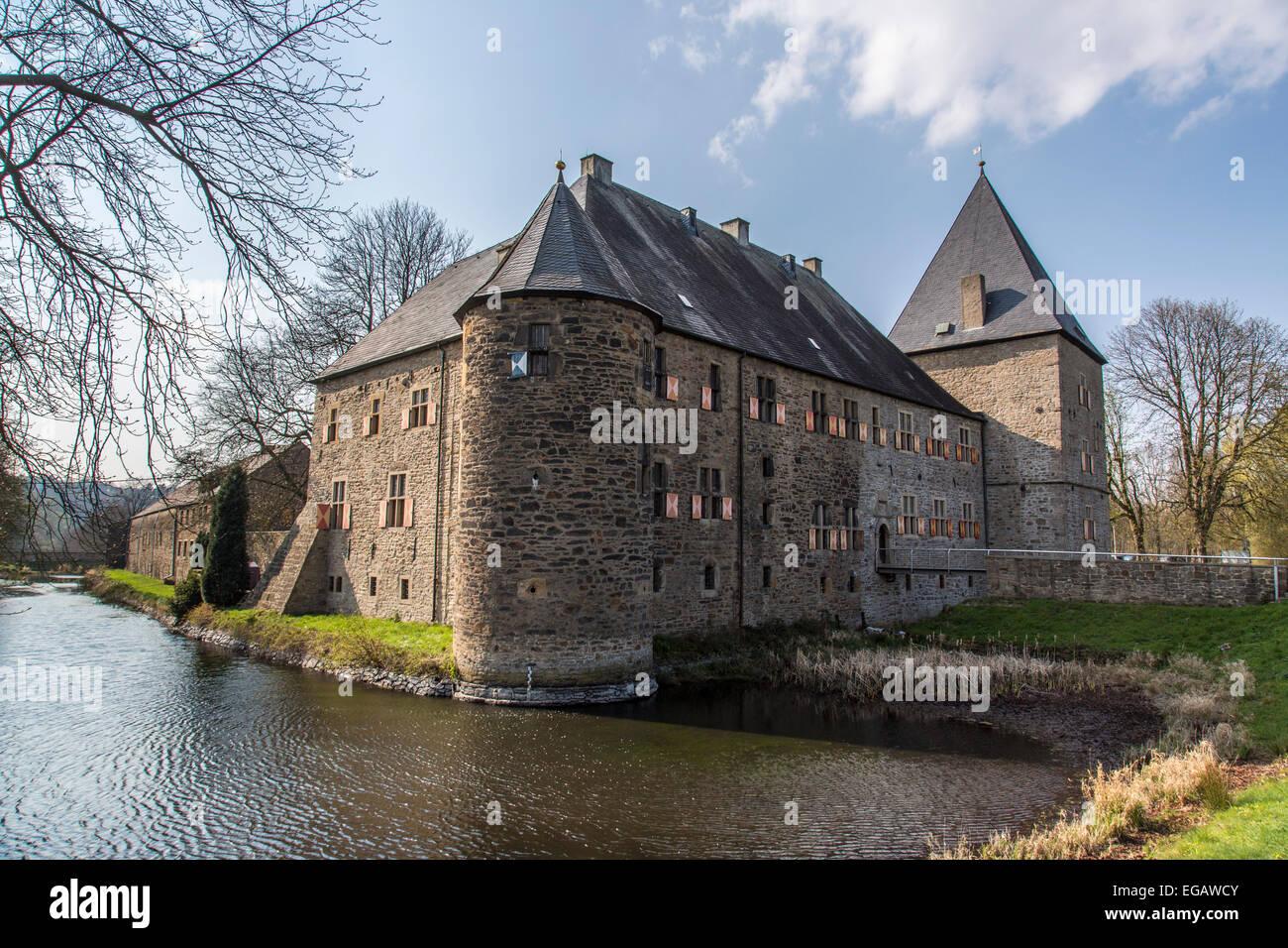 o castelo de gua haus kemnade 39 no rio ruhr bochum alemanha foto imagem de stock 78915451. Black Bedroom Furniture Sets. Home Design Ideas