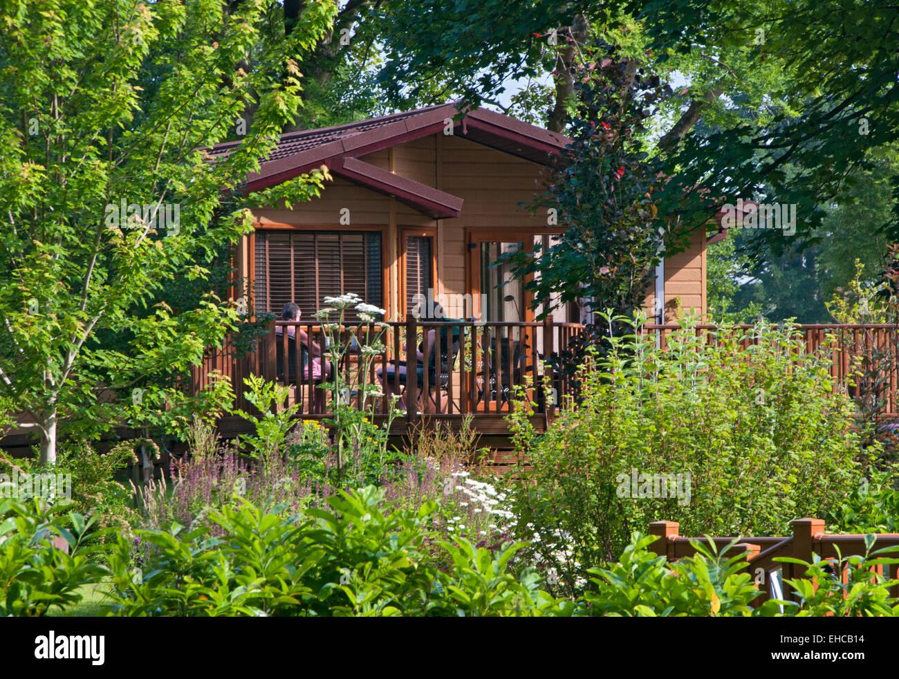 Casa de férias lodge, no norte do País de Gales, Reino Unido Imagens de Stock