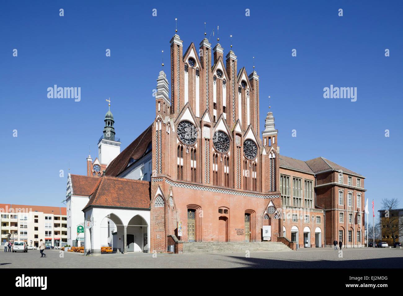 Museu Junge Kunst e Rathaus, Frankfurt an der Oder, Alemanha Imagens de Stock