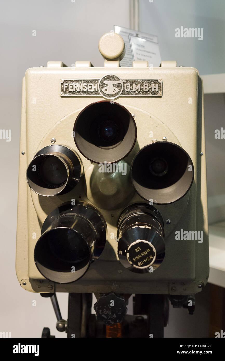 Fernseh GmbH, FS-Kamera mit Rieselikonoskop, KK-je 100 des ATJ 125, 1957 Imagens de Stock