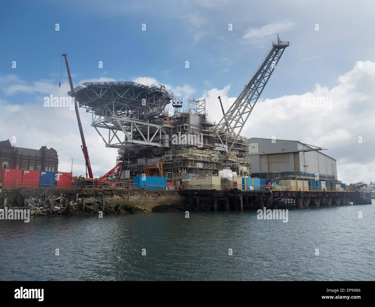 Plataforma de petróleo Docas de Hartlepool Imagens de Stock
