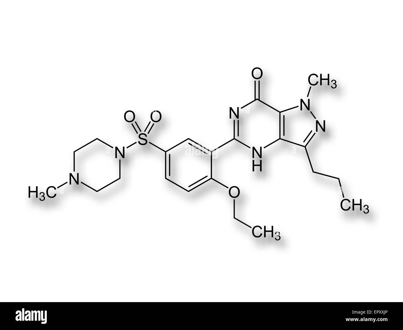 Viagra Structure Formulae Of The Drug Viagra Sildenafil The