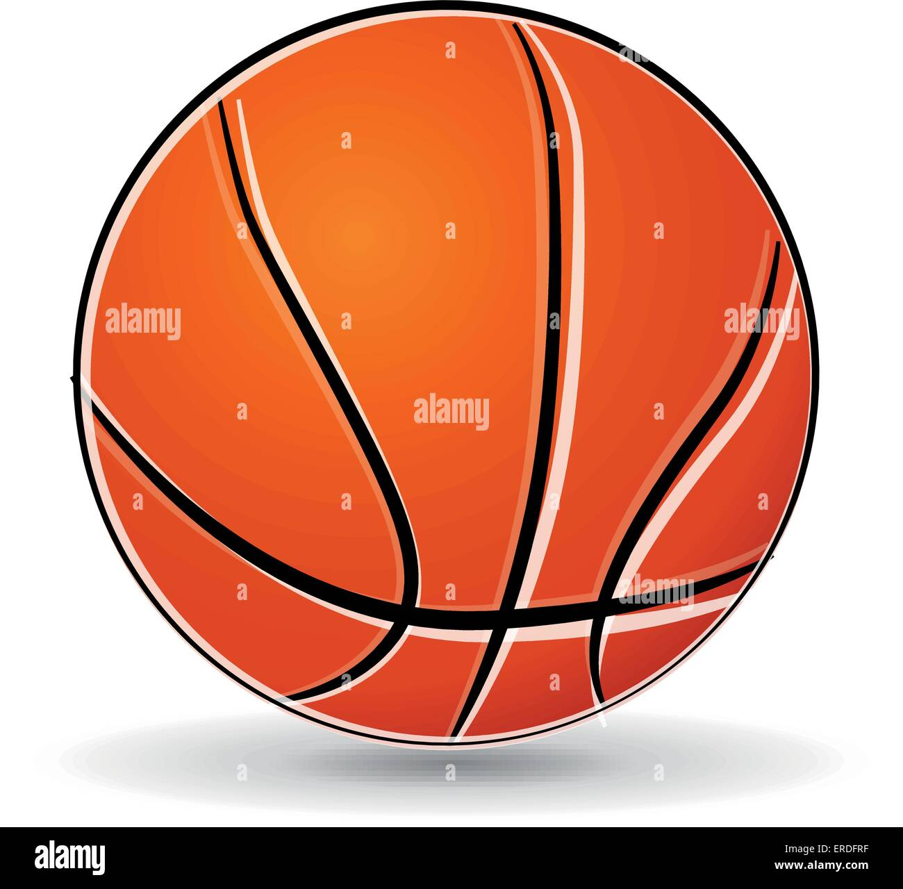 ilustração do vetor de basquetebol bola desenho sobre fundo branco