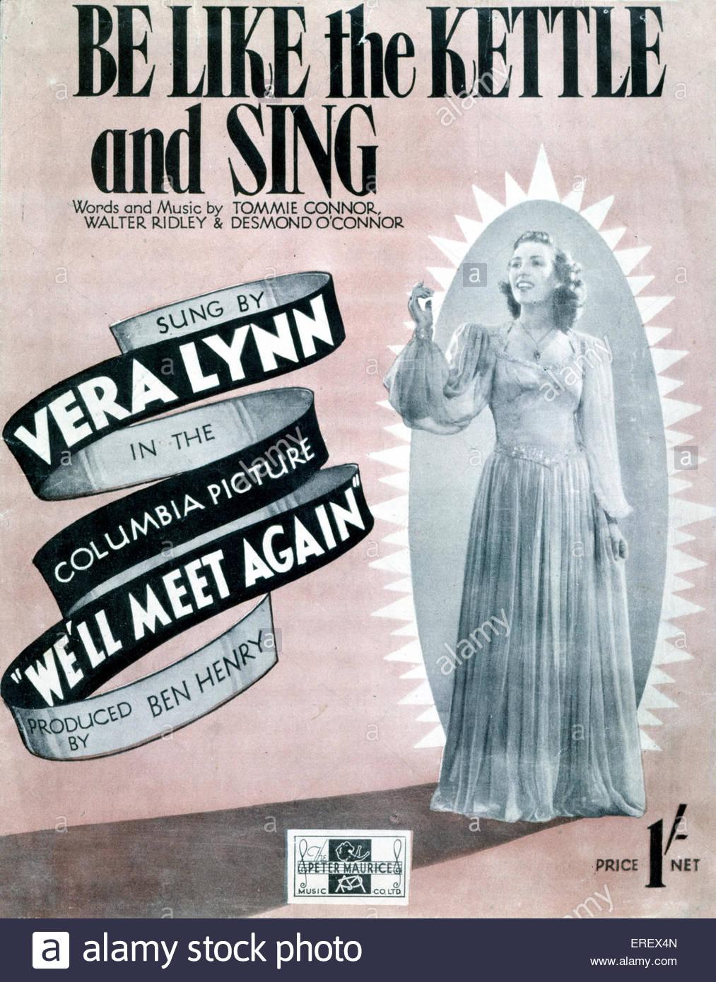 """Vamos nos encontrar novamente (1943 filme) - pontuação tampa para canção """"Ser como o jarro Imagens de Stock"""