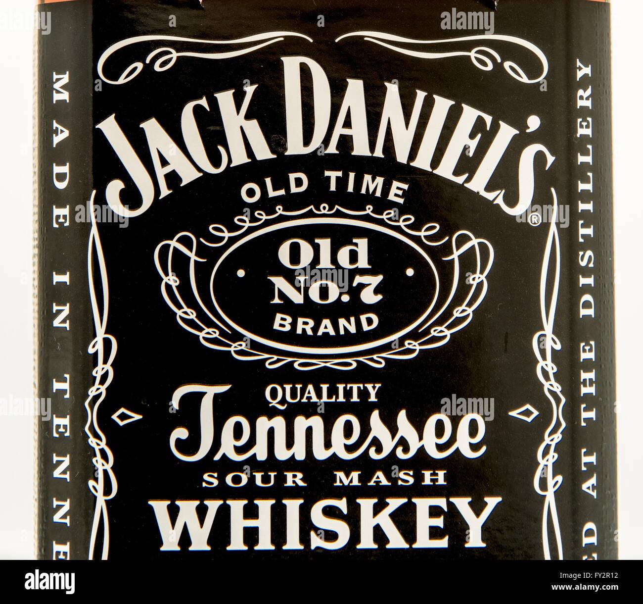 Close Up Jack Daniels Bottle Label Fotos & Close Up Jack Daniels ...