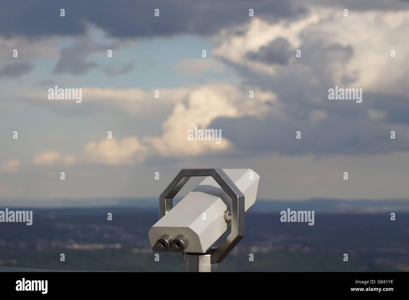 Vista a partir da torre de TV de Stuttgart e Blick vom Stuttgarter Fernsehturm Imagens de Stock