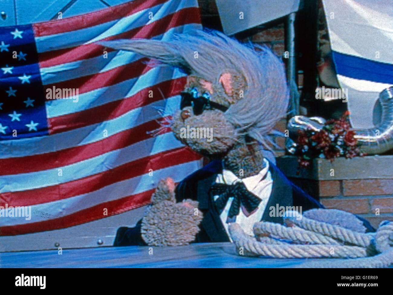 Bim Bam Microscópios binoculares, Kinderfernsehserie, Deutschland 1988 - 1998, Katze Lucy als Leningrad Cowboys Imagens de Stock