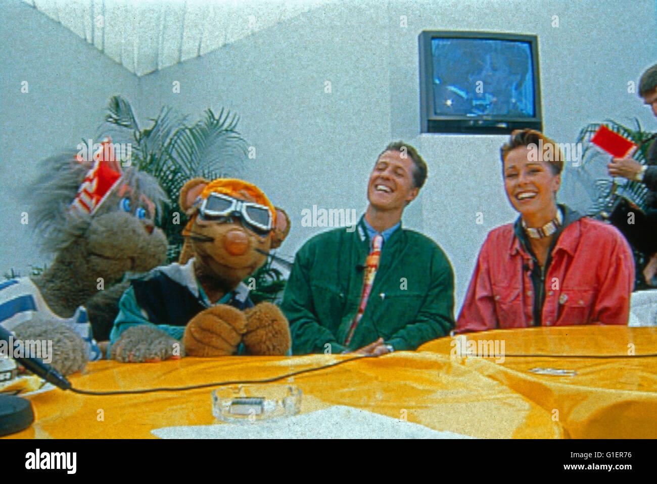 Bim Bam Microscópios binoculares, Kinderfernsehserie, Deutschland 1988 - 1998, Maus Microscópios binoculares, Imagens de Stock