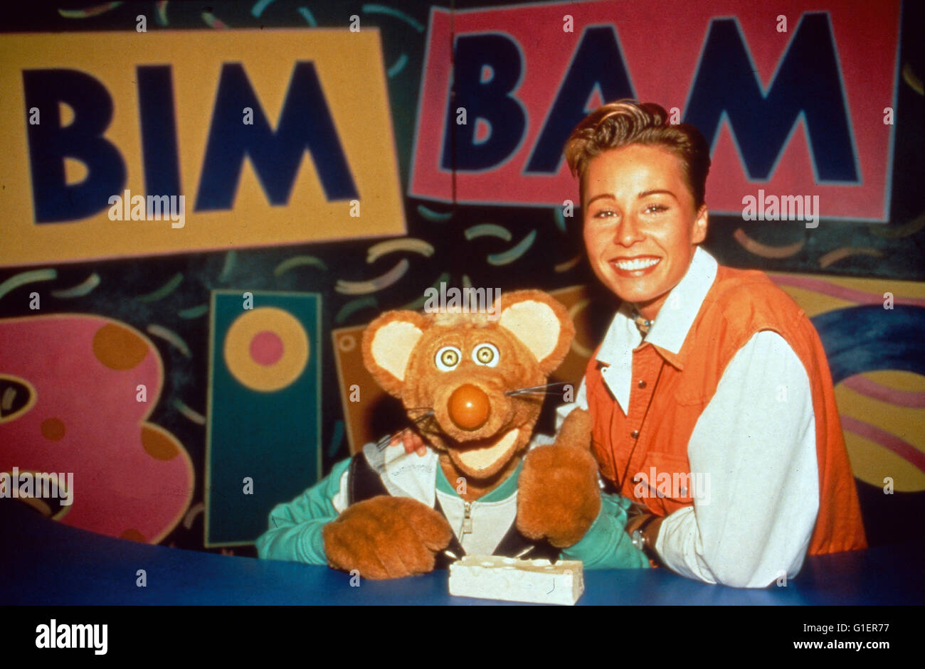 Bim Bam Microscópios binoculares, Kinderfernsehserie, Deutschland 1988 - 1998, Maus Microscópios binoculares Imagens de Stock