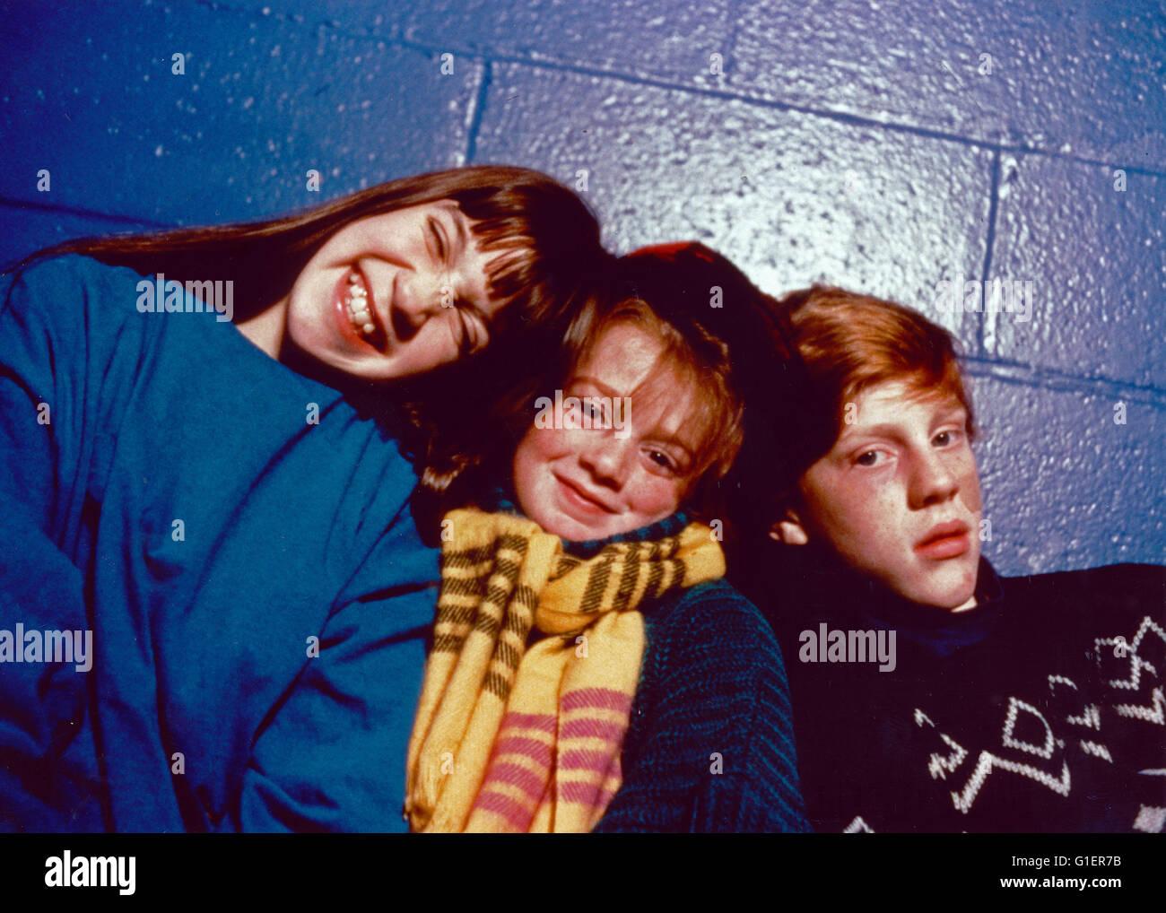 Pete & Pete, Realfilmserie, EUA 1993, Darsteller: Alison Fanelli, Mike Maronna, Danny Tamerelli Imagens de Stock