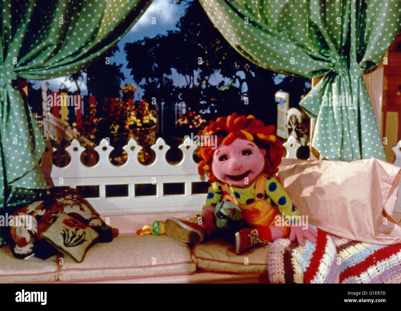 A janela de Allegra aka: Allegras Freunde, Puppentrickserie, EUA 1994 Imagens de Stock