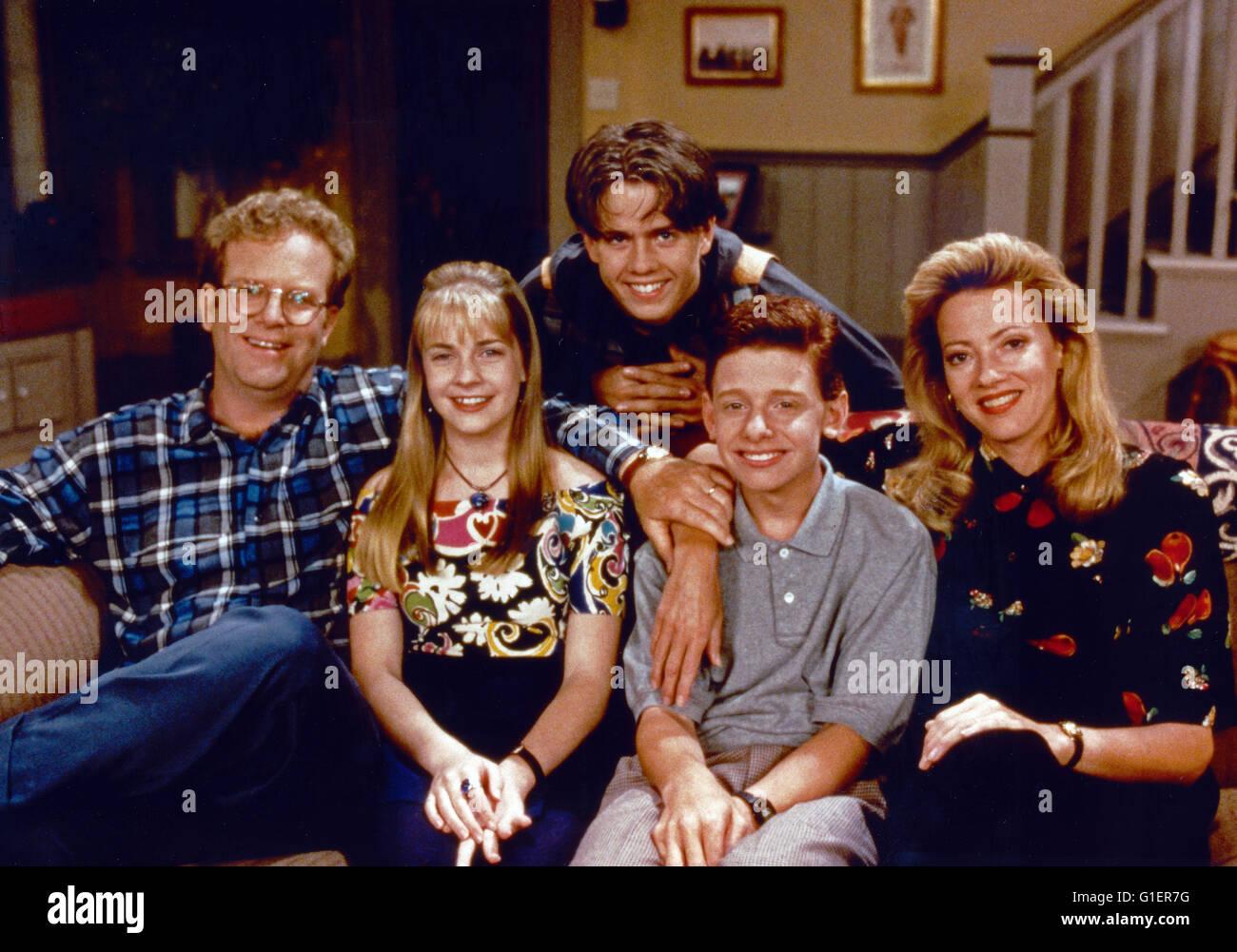 Clarissa explica tudo, aka: Clarissa, Teenagerserie; EUA 1991 - 1994, Darsteller: (v. l.) Joe O'Connor, Melissa Imagens de Stock
