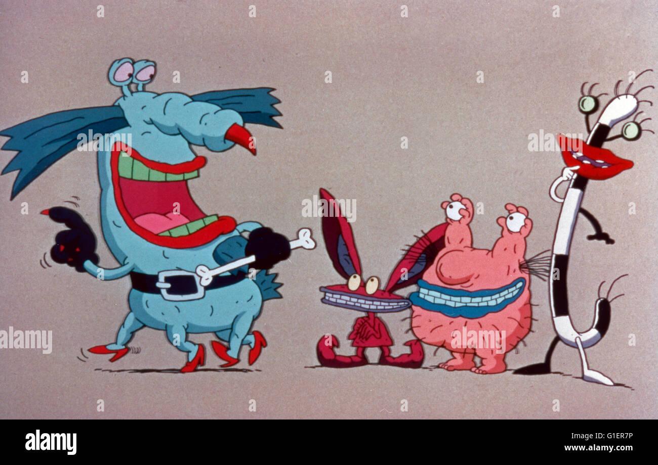 Aaahhh! Verdadeiros monstros, aka: Aaahhh!! Monster!, Zeichentrickserie; EUA 1994 Imagens de Stock