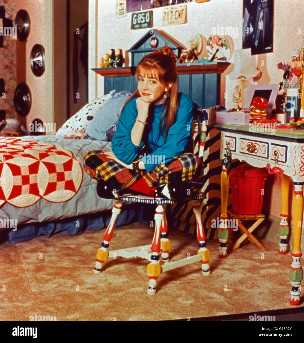 Clarissa explica tudo, aka: Clarissa, Teenagerserie; EUA 1991 - 1994, Darsteller: Melissa Joan Hart Imagens de Stock