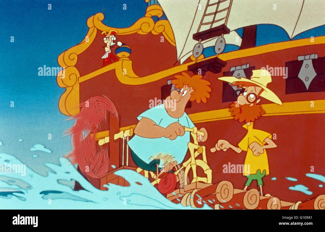 Robinson Sucroe, Zeichentrickserie Deutschland Frankreich/1994 Imagens de Stock