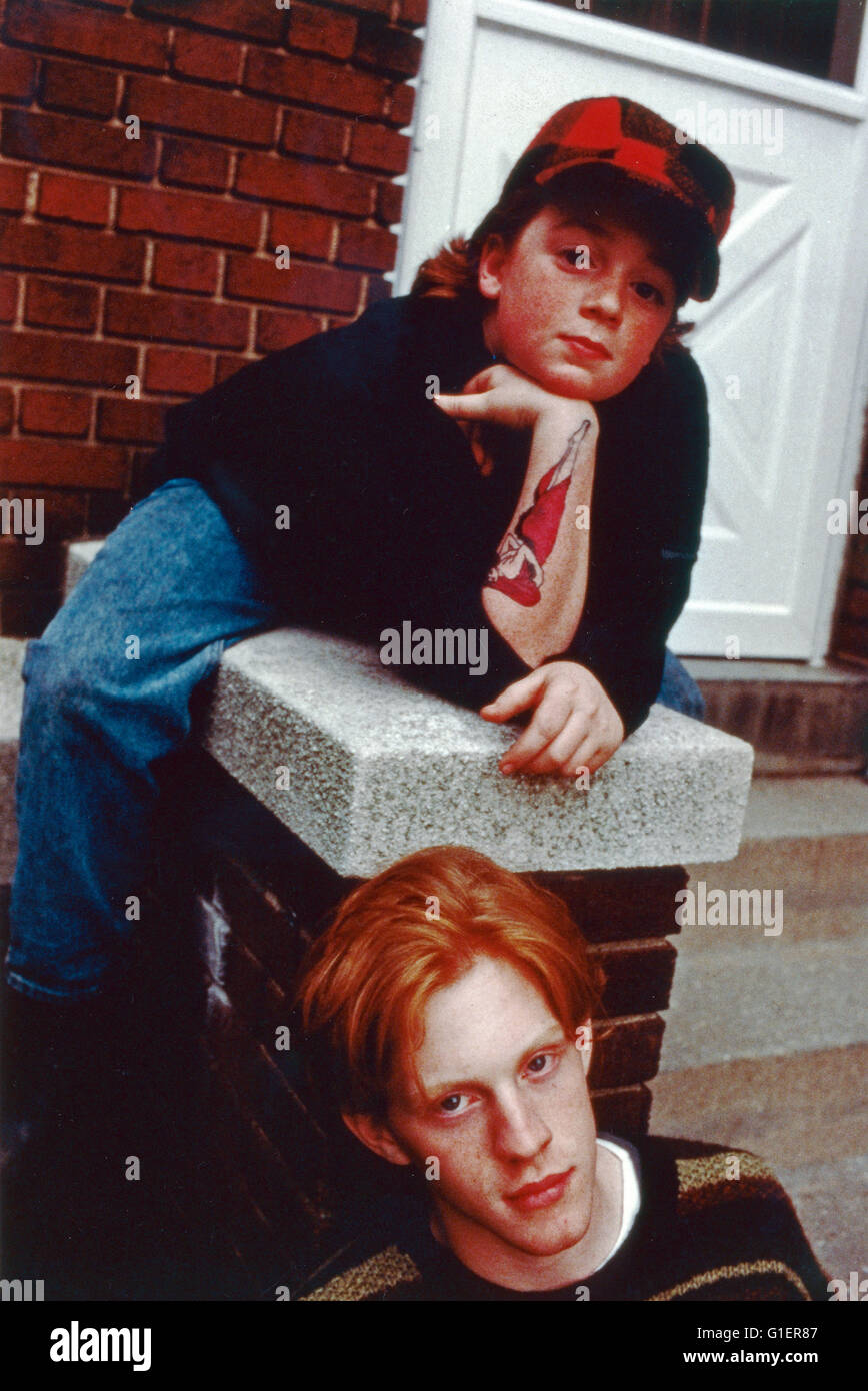 Pete & Pete, Realfilmserie, EUA 1993, Darsteller: Mike Maronna, Danny Tamerelli Imagens de Stock