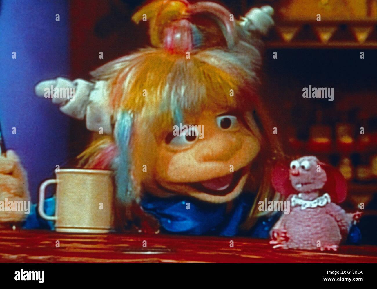 Eureeka do Castelo, aka: Walburgas Zauberschloss, Puppentrickserie, EUA 1989, Charakter: Walburga encarregou Imagens de Stock