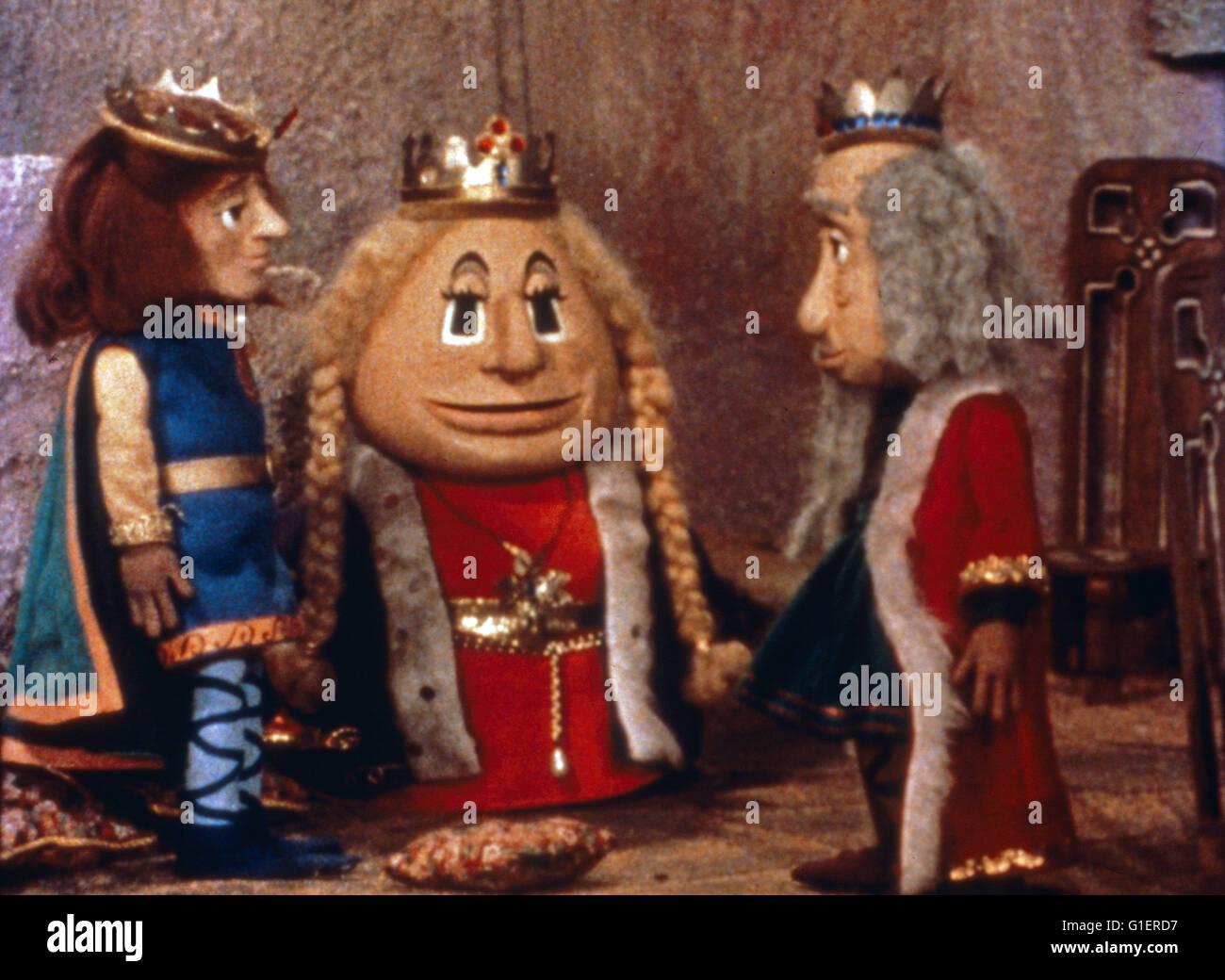 O Castelo de Cloppa, Großbritannien Puppentrickserie, 1977, Imagens de Stock