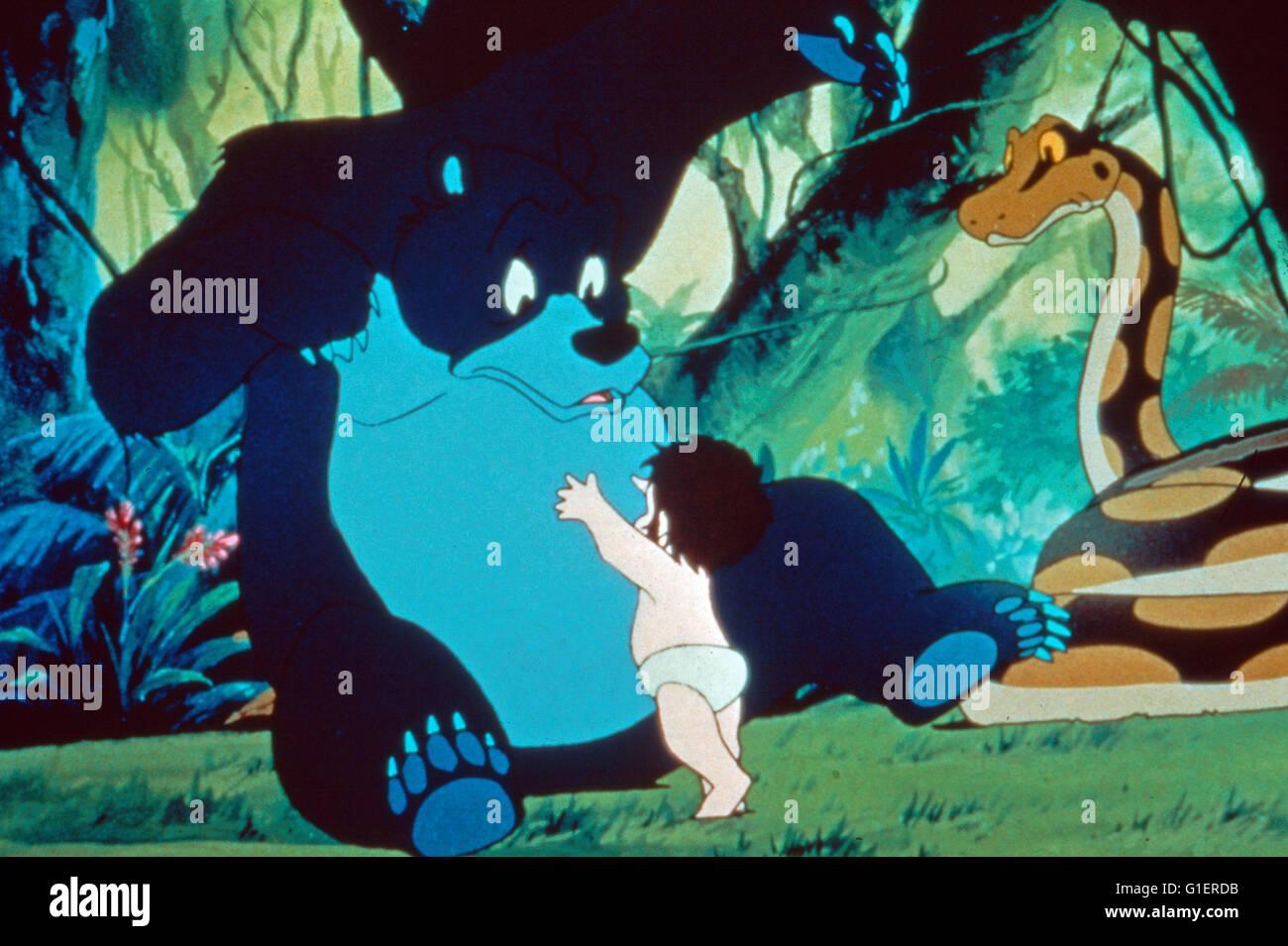 Livro da Selva Shonen Mowgli, aka: Das Dschungelbuch, Zeichentrickserie, Japão 1989, Charakter: Mowgli, Balu Imagens de Stock